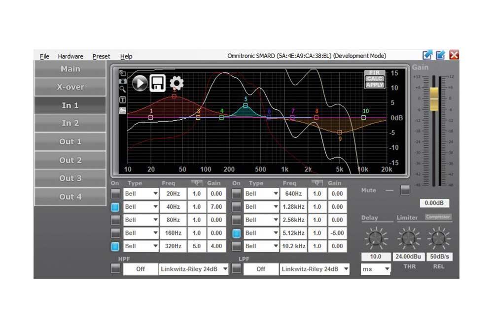 SMARD-24RCA Digital DSP Controller - omnitronic